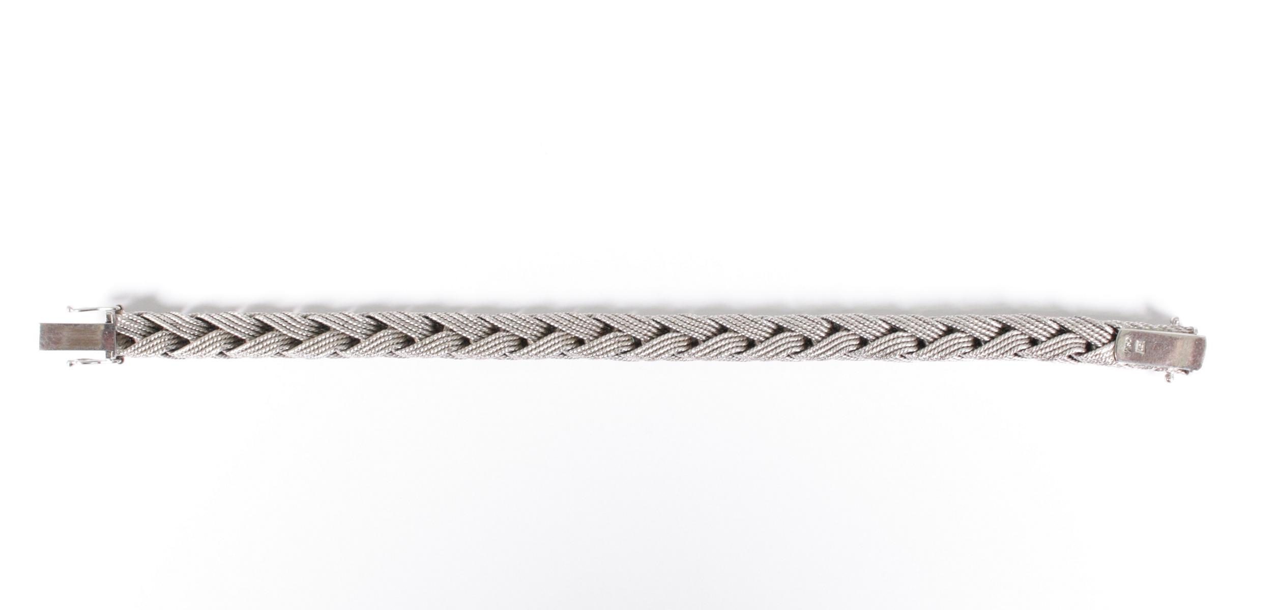 Damenarmband aus 18 Karat Weißgold-3