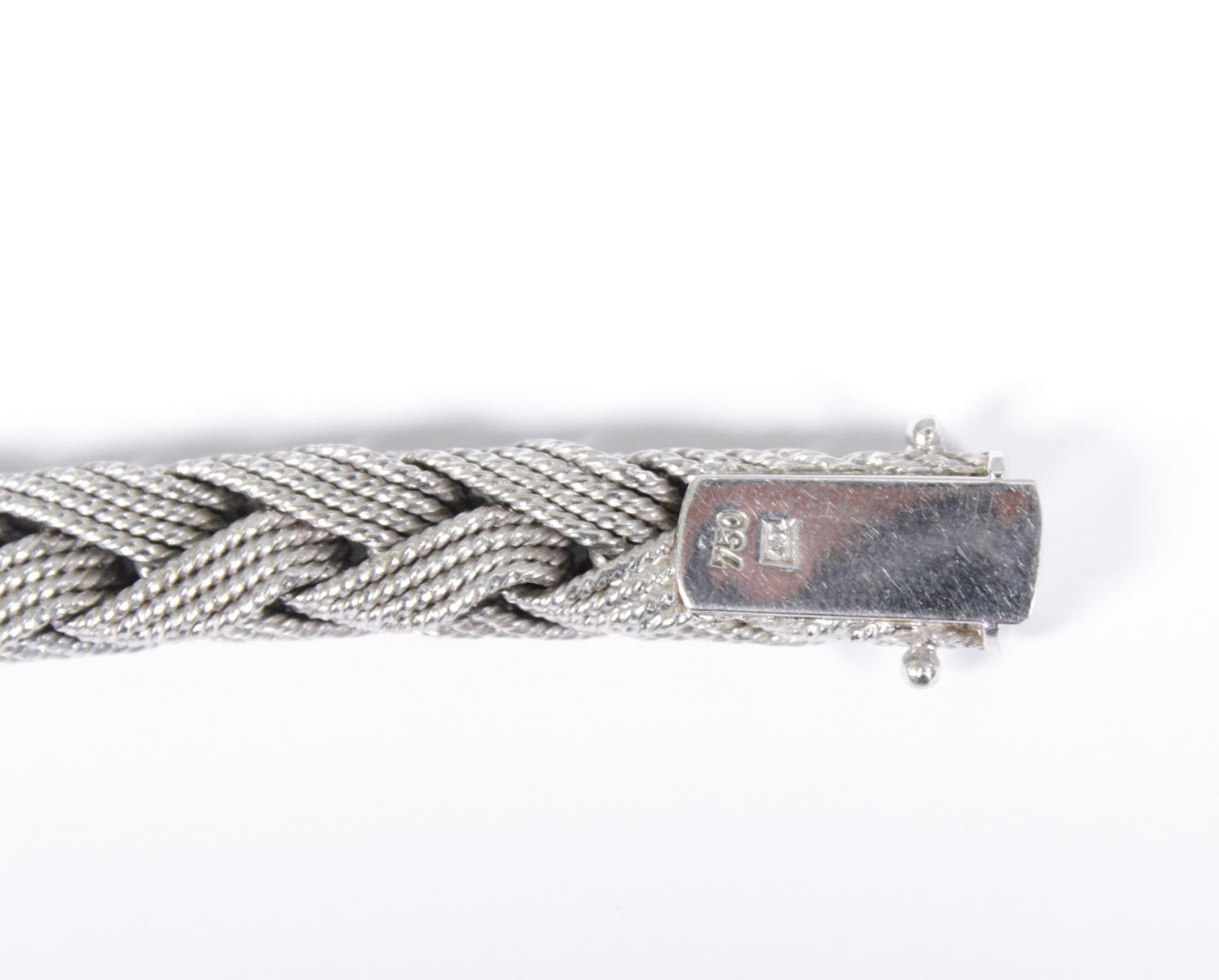 Damenarmband aus 18 Karat Weißgold-4