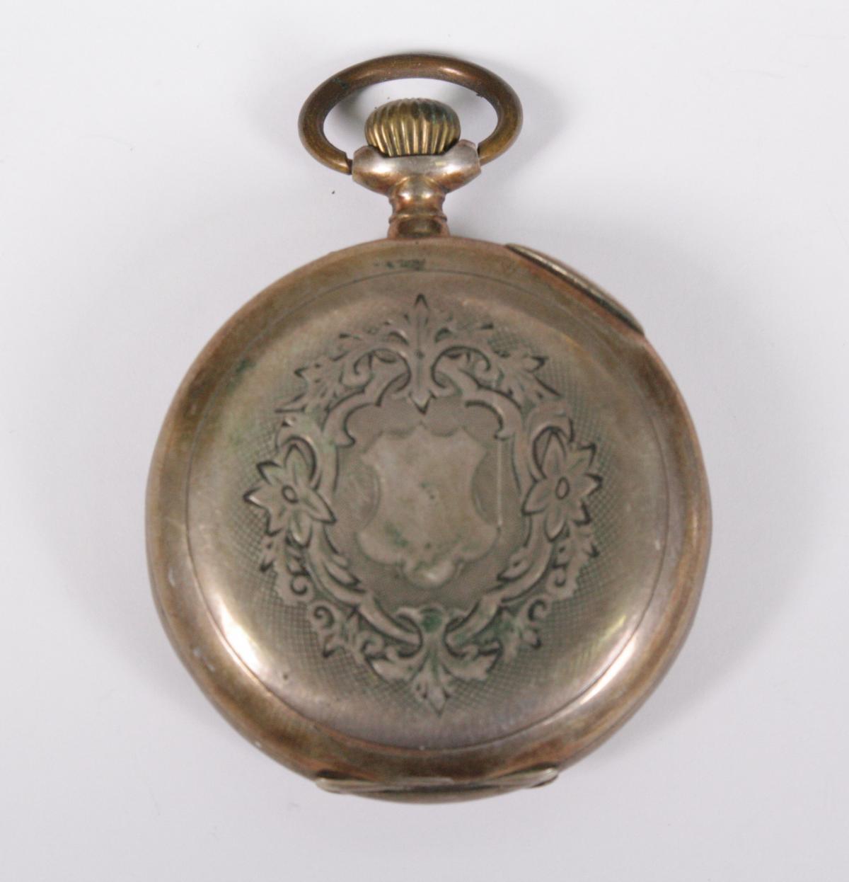 Silberne Herrentschenuhr um 1900-2