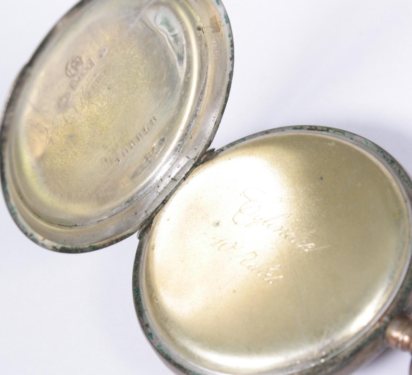 Silberne Herrentschenuhr um 1900-3