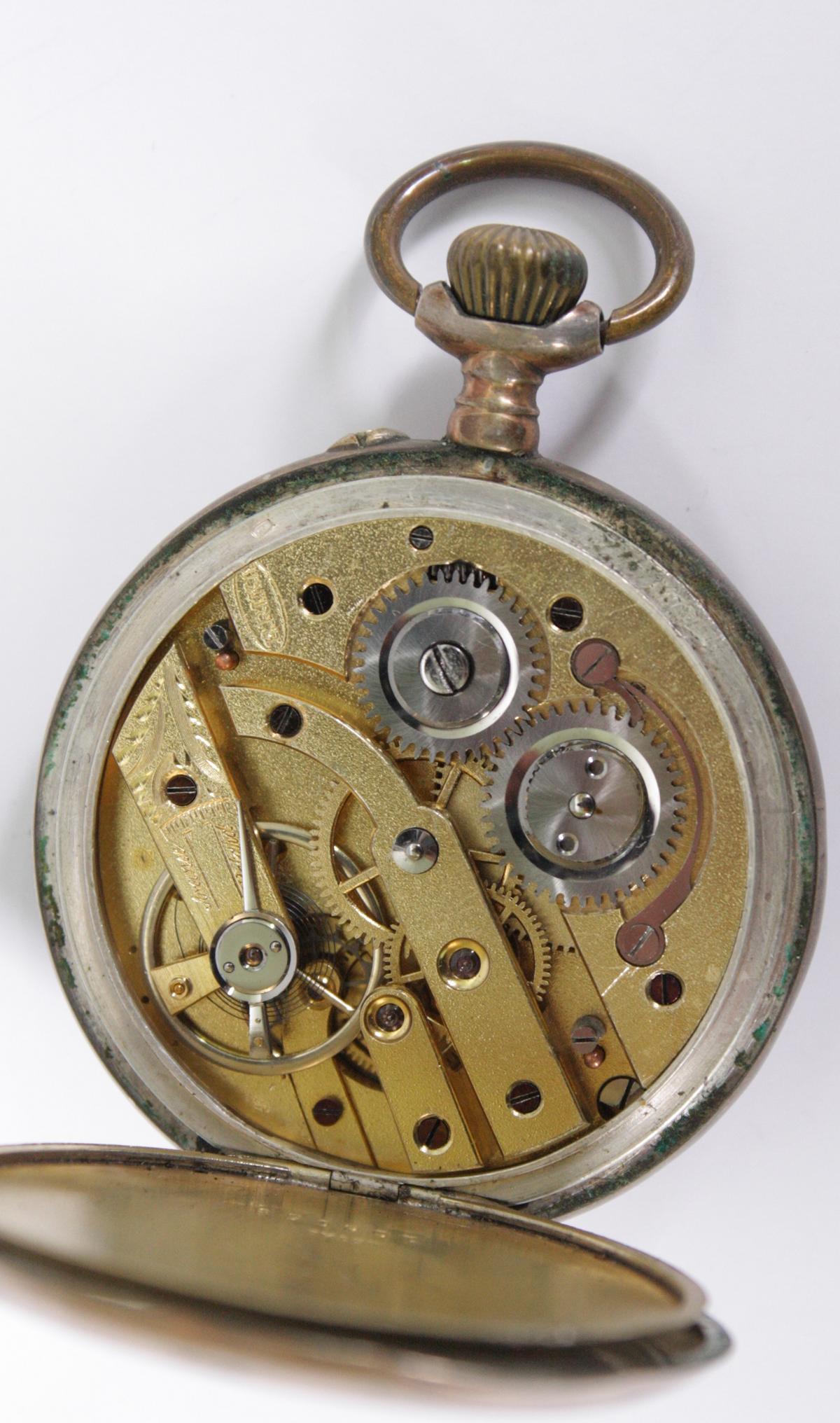 Silberne Herrentschenuhr um 1900-4