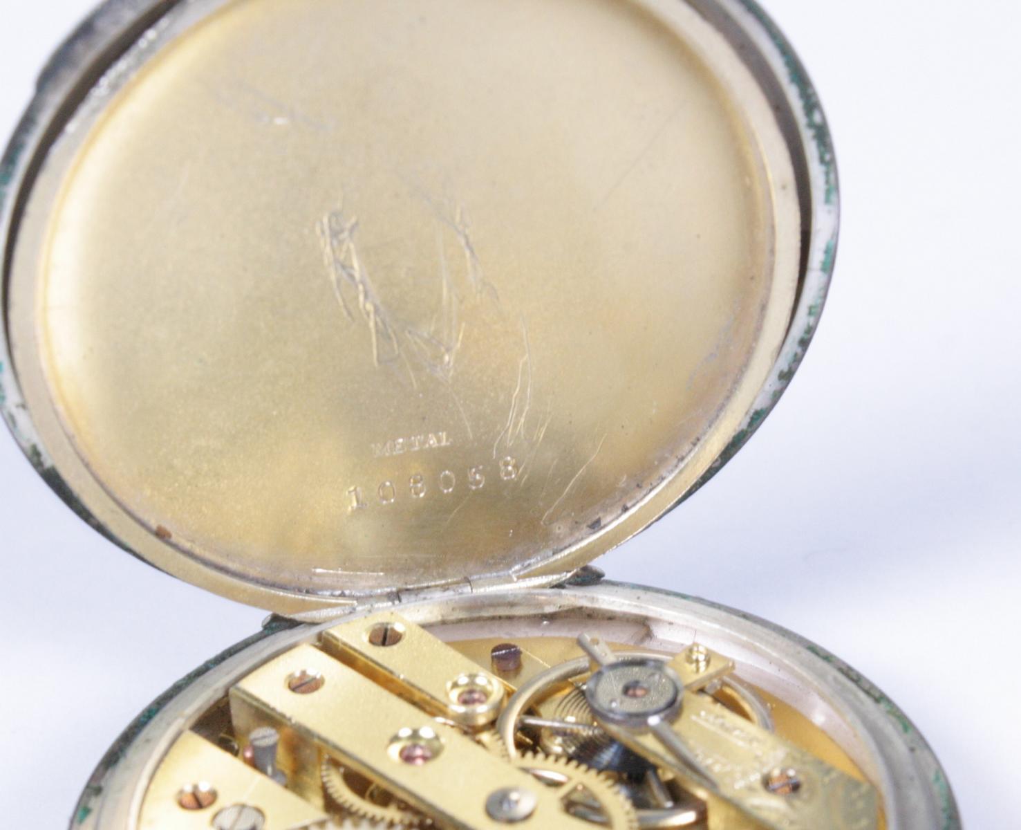 Silberne Herrentschenuhr um 1900-5
