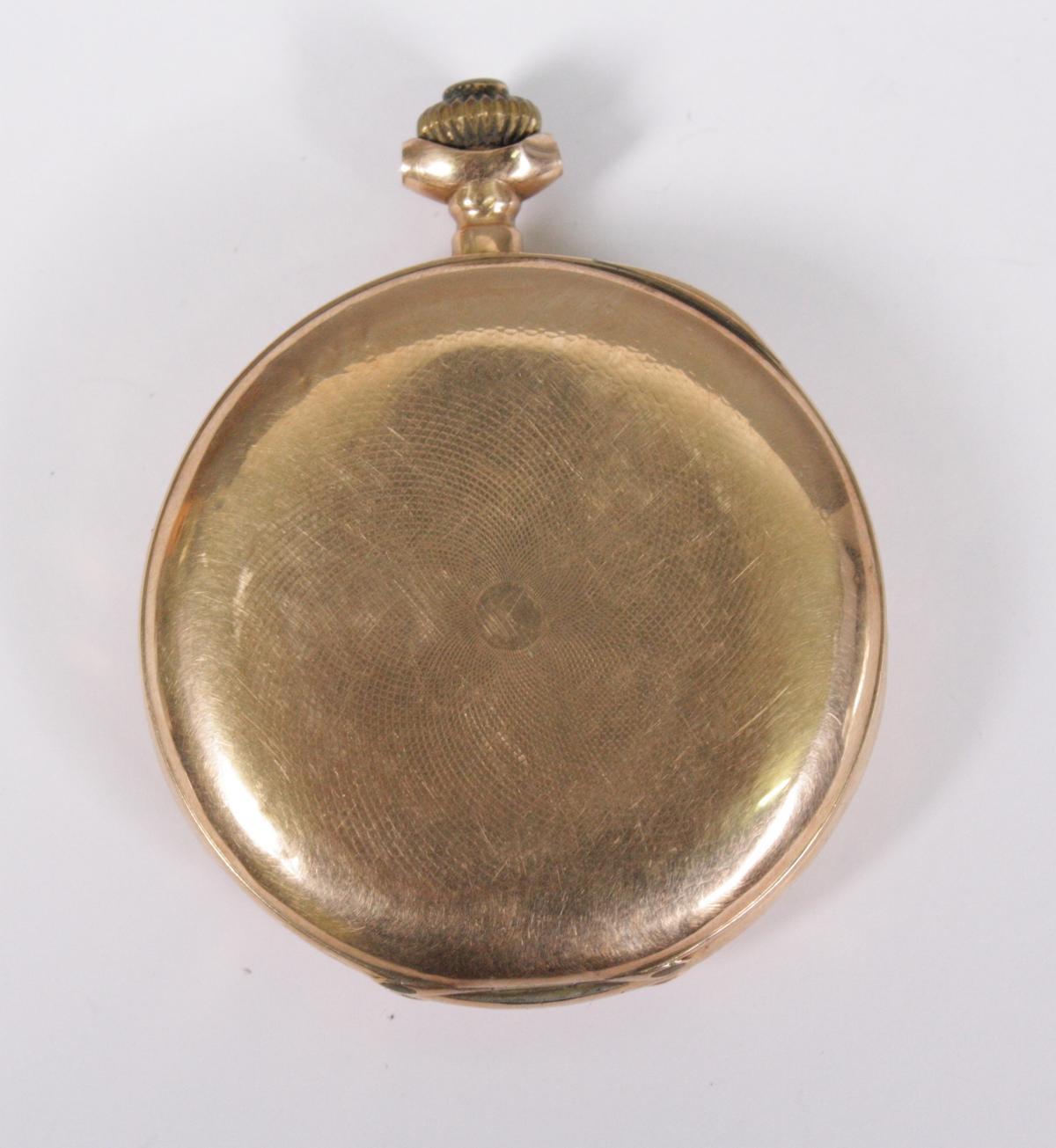 Goldene Herrentaschenuhr, 14 Karat Gelbgold-7