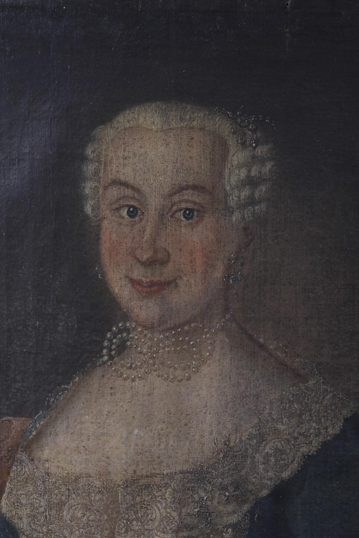 Damen und Herrenportrait. Deutsch 18. Jahrhundert-6