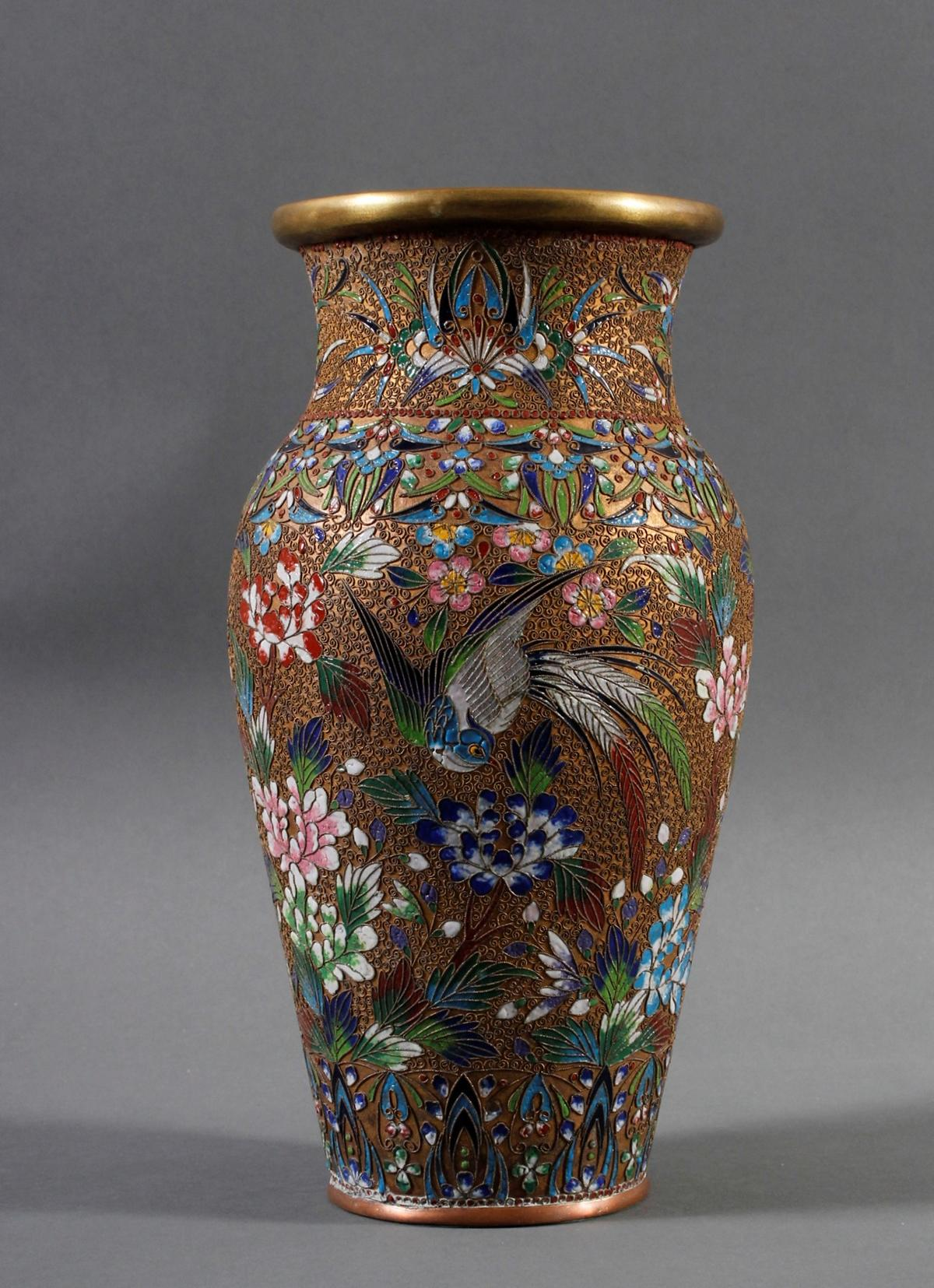 Cloisonnè Vase, China Ende 19. Jahrhundert