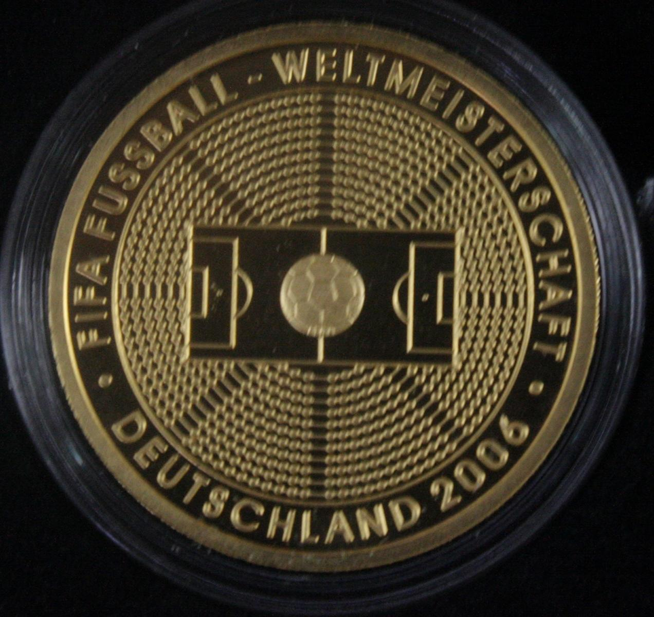 100 Euro Goldmünze 2005, FIFA Fußball-Weltmeisterschaft Deutschland 2006-2
