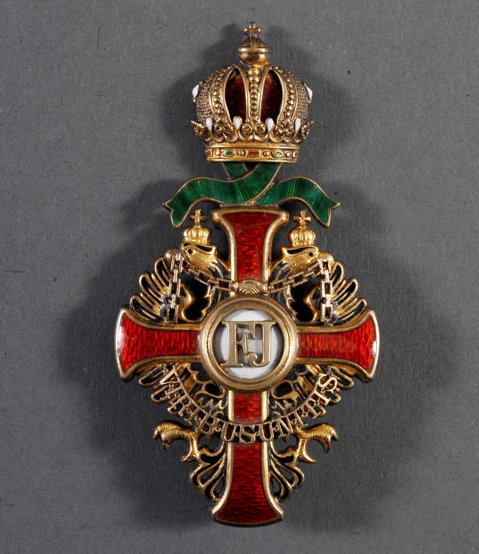 Franz Joseph-Orden, Offizierskreuz mit Kriegsdekoration (KD)-3