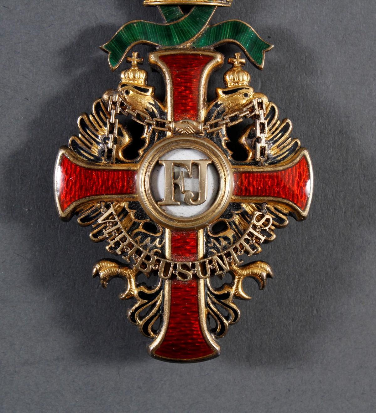 Franz Joseph-Orden, Offizierskreuz mit Kriegsdekoration (KD)-4
