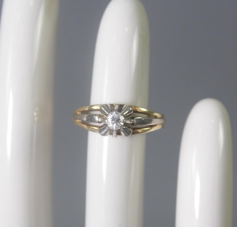 Damenring mit Diamant, 14 Karat Gelbgold
