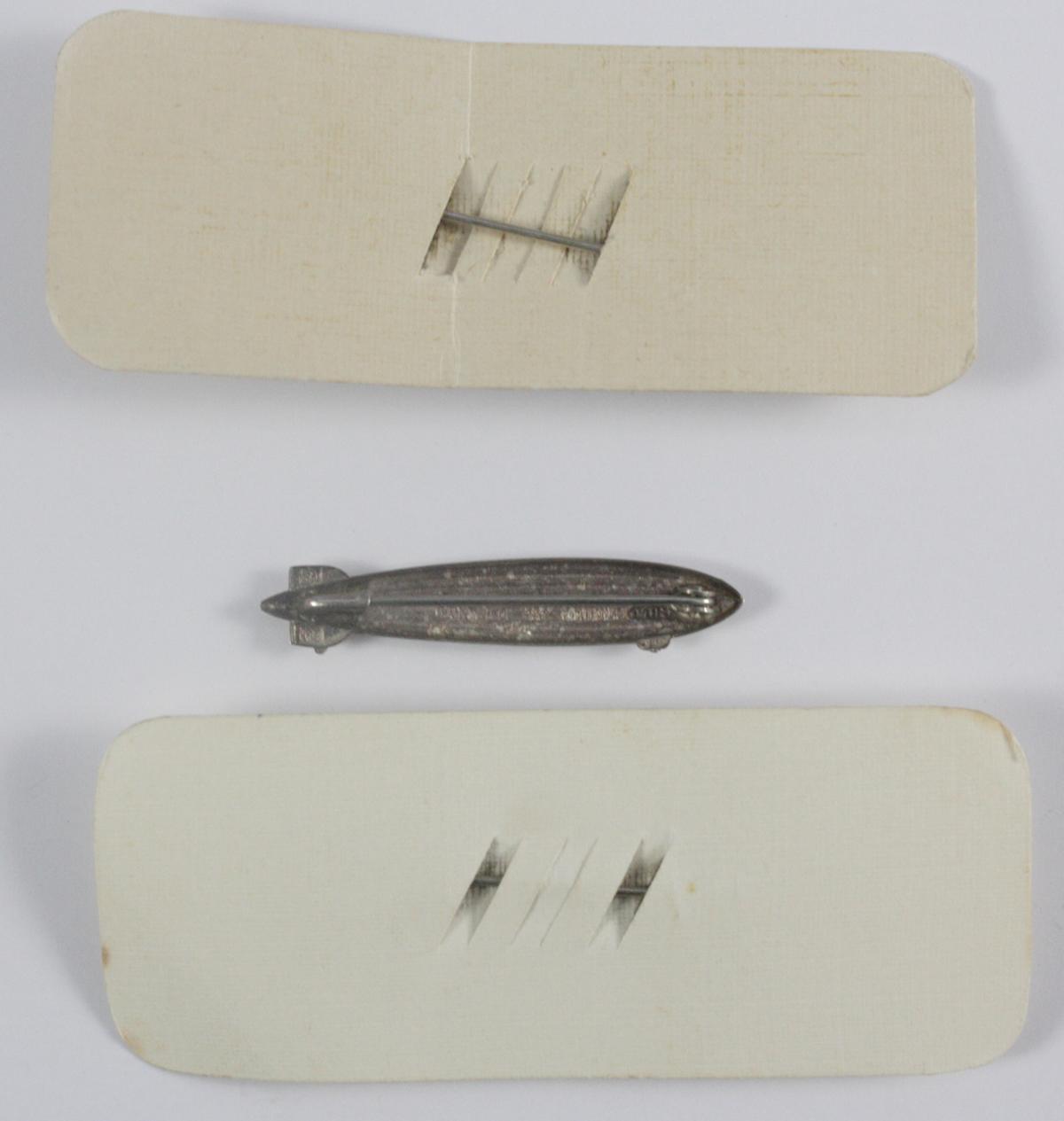 3 Anstecker, 800er Silber, Zeppelin, III. Reich-2