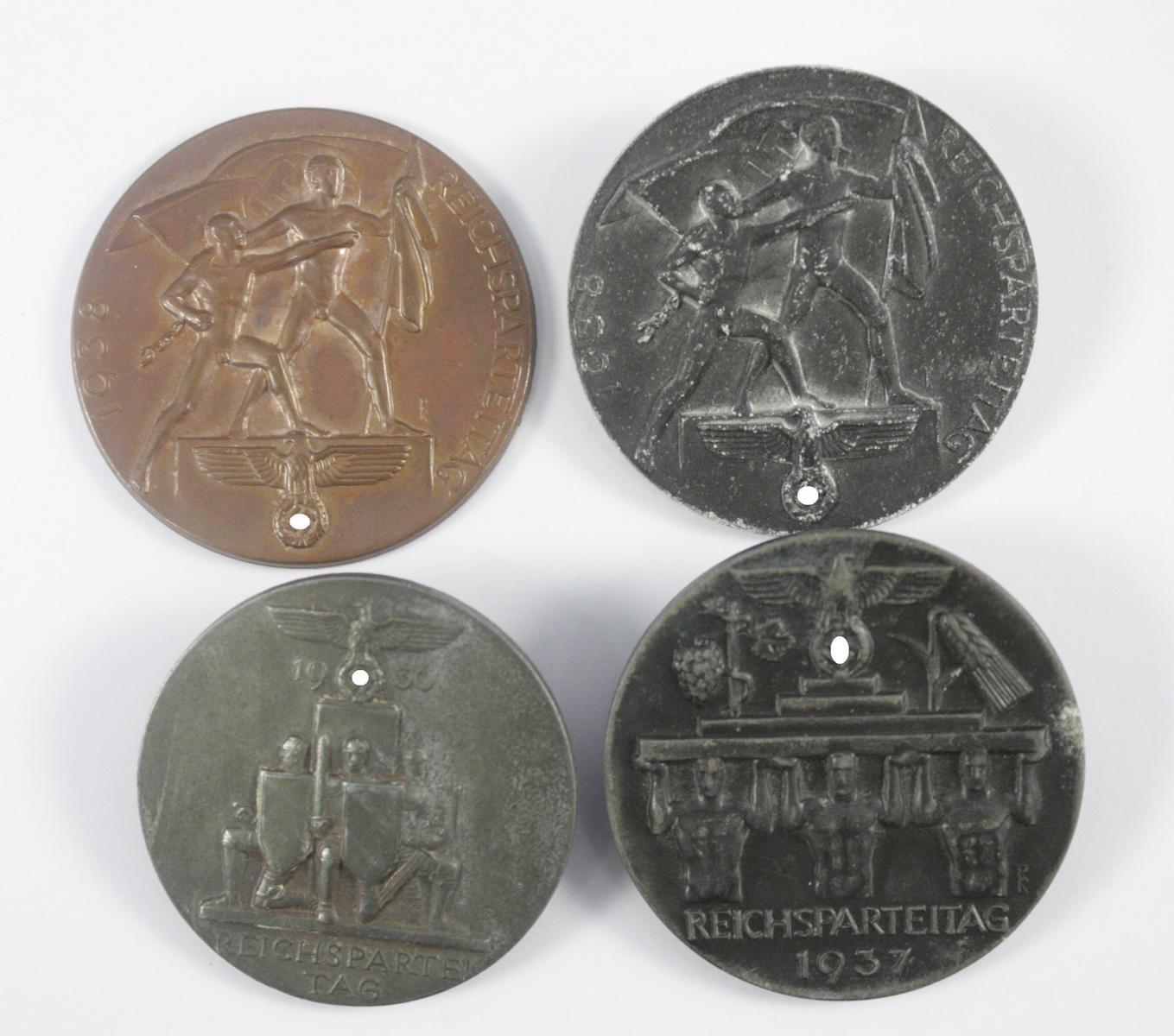 Abzeichen: Reichsparteitag Nürnberg 1936 / 1937 und 1938