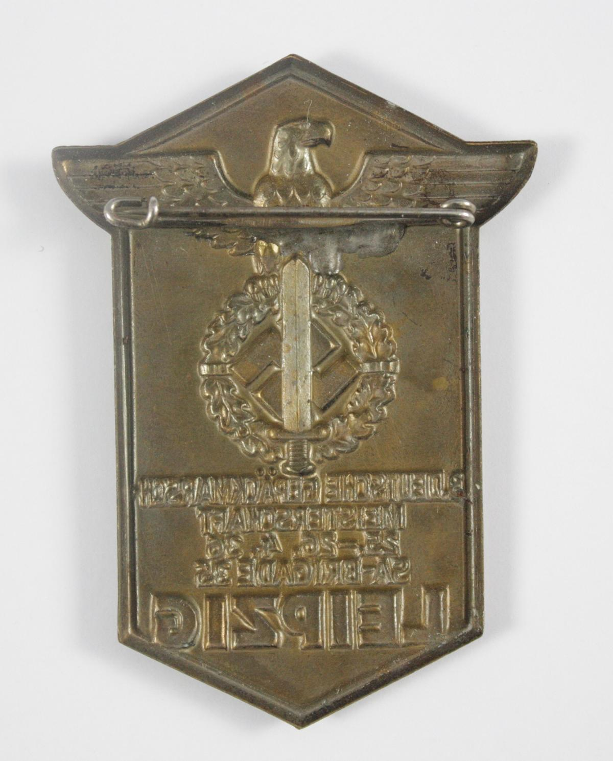 Abzeichen, 3. Deutsche Gepäckmarschmeisterschaft 1936, SA Brigade 35, Leipzig-2