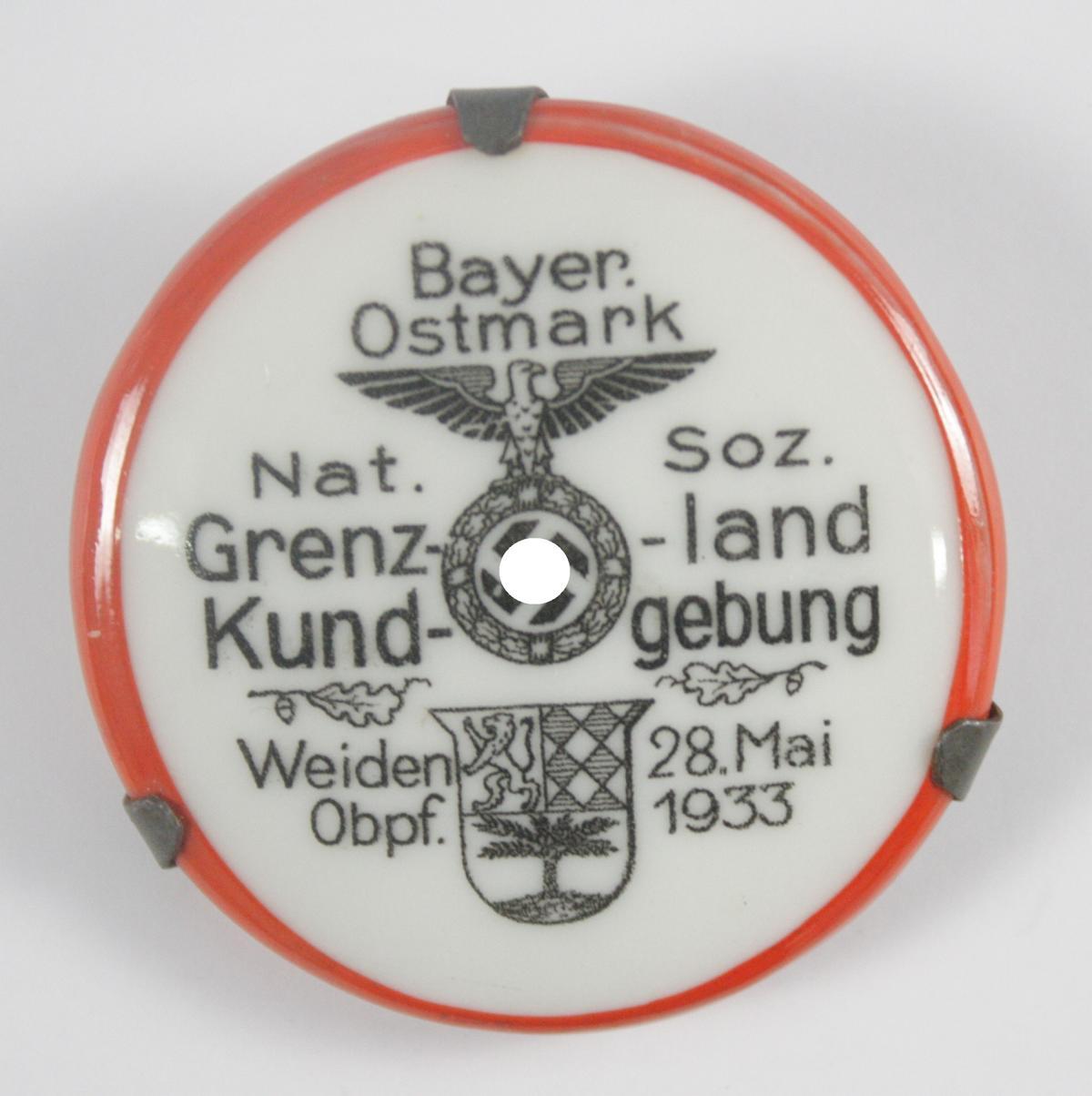 Abzeichen: NS Grenzlandkundgebung Weiden Oberpfalz 1933