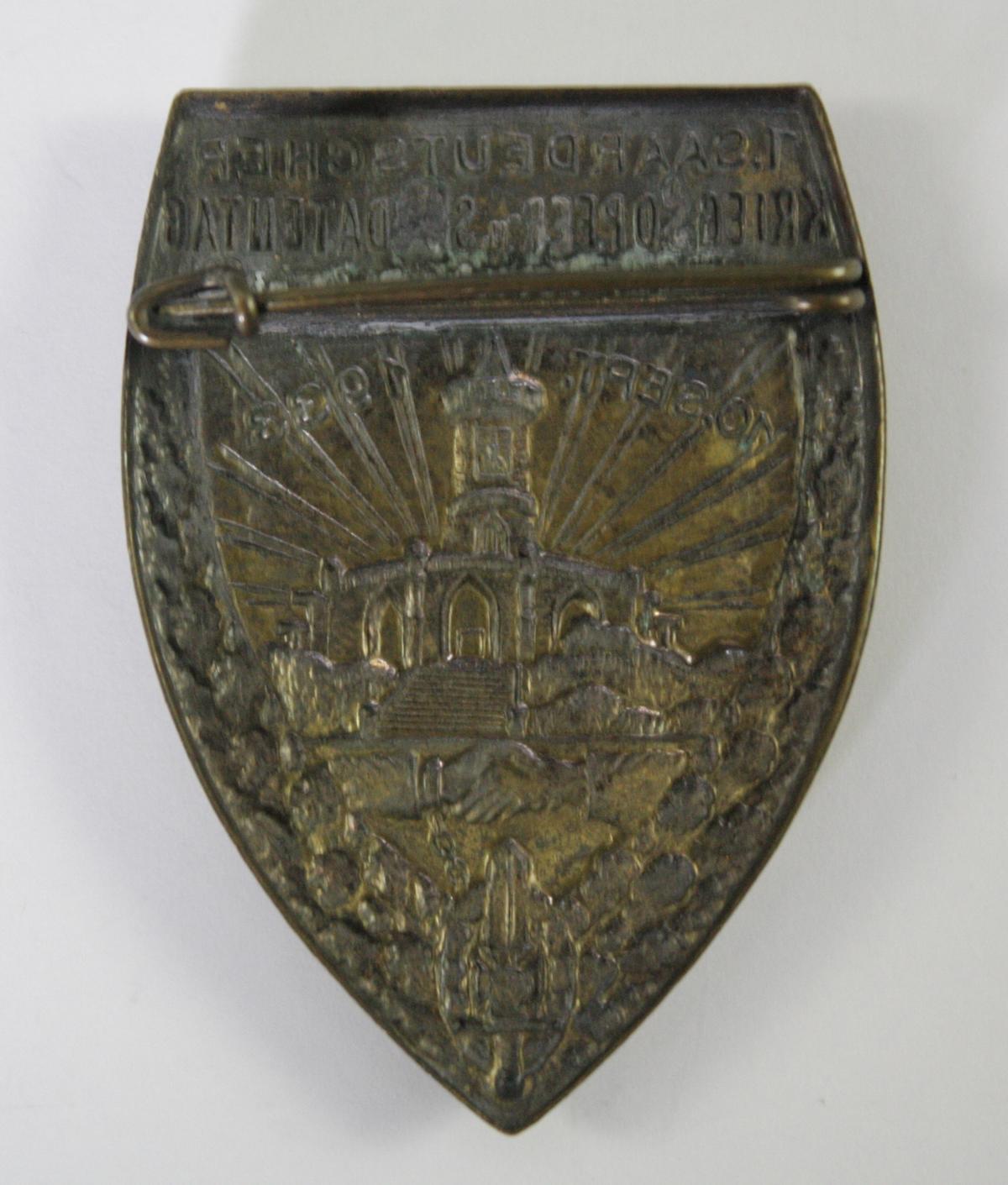 Abzeichen: 1. Saardeutscher Kriegsopfer- und Soldatentag Zweibrücken 1933-2