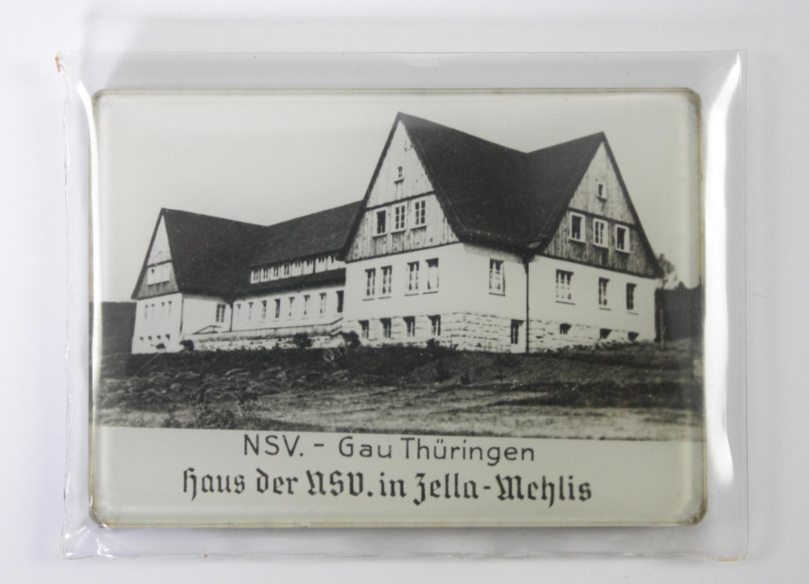 Taschenspiegel, NSV Gau Thüringen. Haus der NSV in Zella-Mehlis