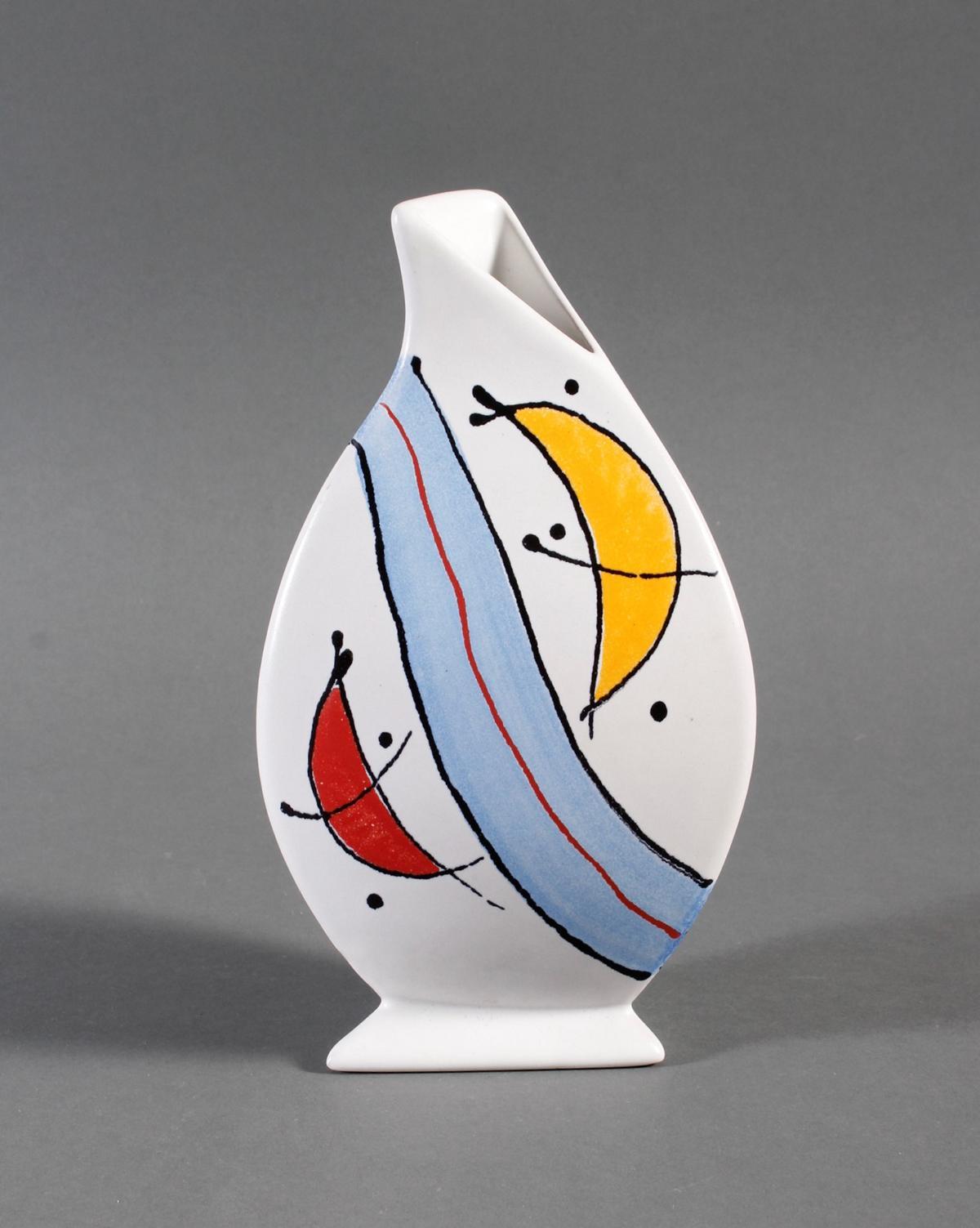 Keramik-Künstlervase, kmk, 90er Jahre-2