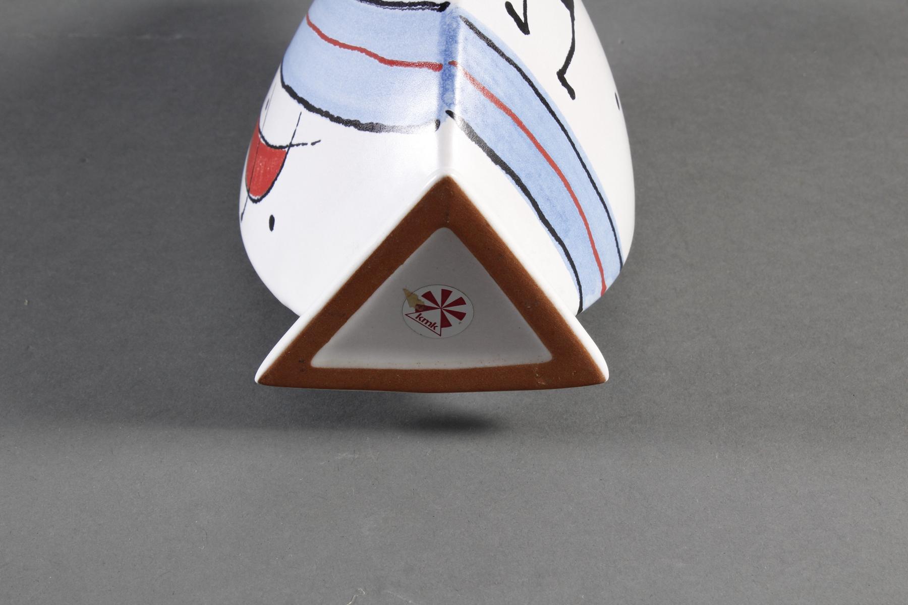 Keramik-Künstlervase, kmk, 90er Jahre-4
