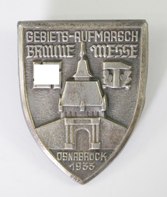 Abzeichen, Gebiets-Aufmarsch Braune Messe Osnabrück 1933