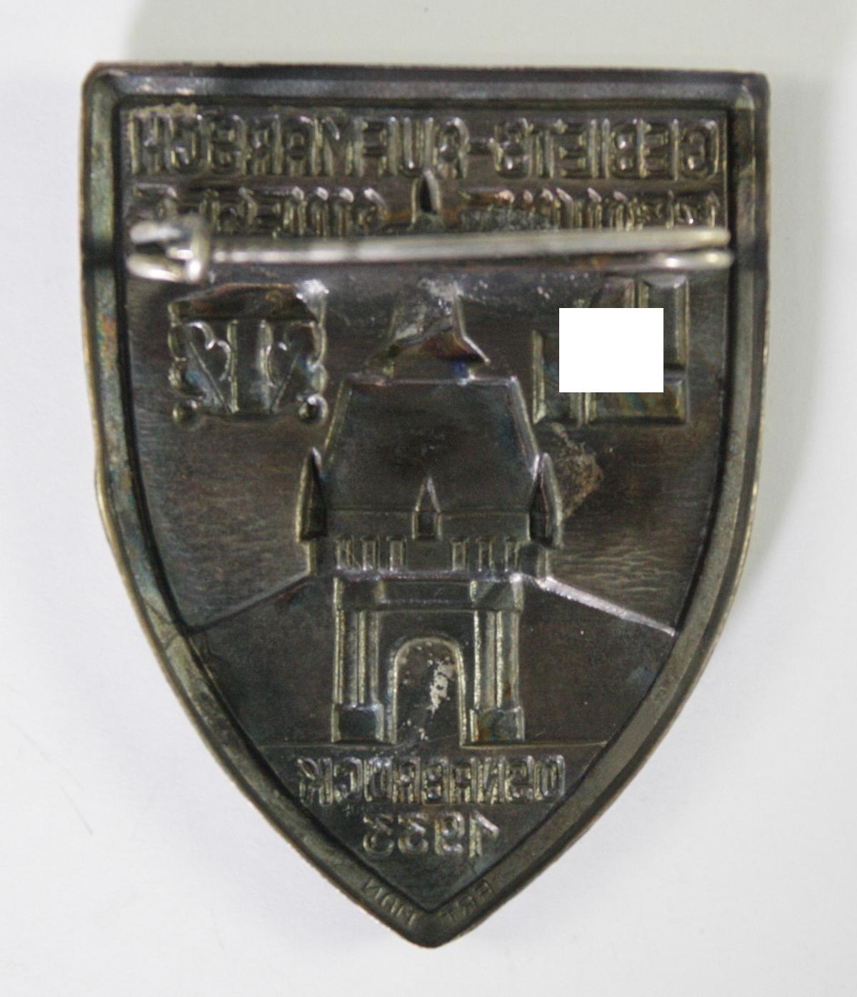 Abzeichen, Gebiets-Aufmarsch Braune Messe Osnabrück 1933-2