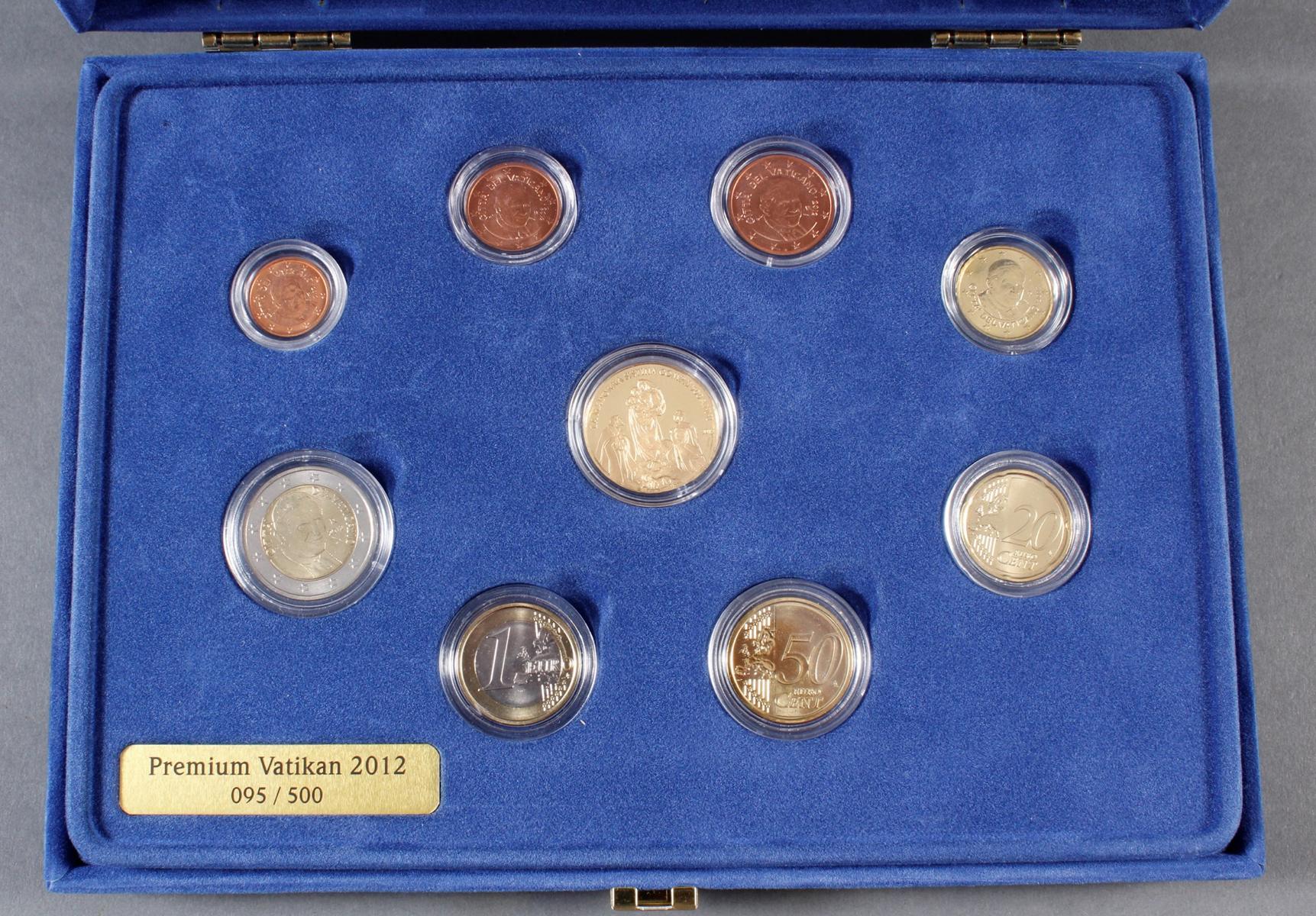 Vatikan Premium KMS (Kursmünzensatz) 2012 mit 1/10 Unze Goldmedaille-2