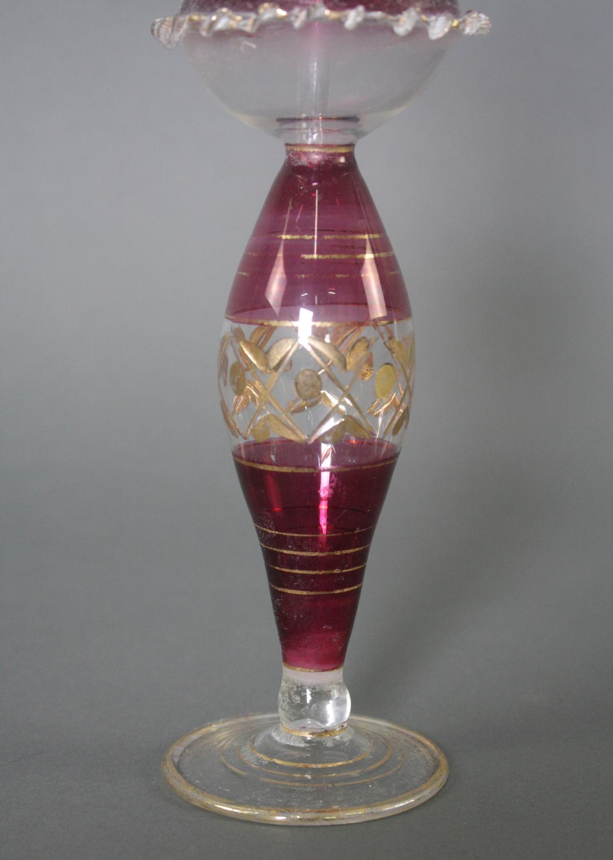 Glasflakon mit Stöpsel, Biedermeier-2