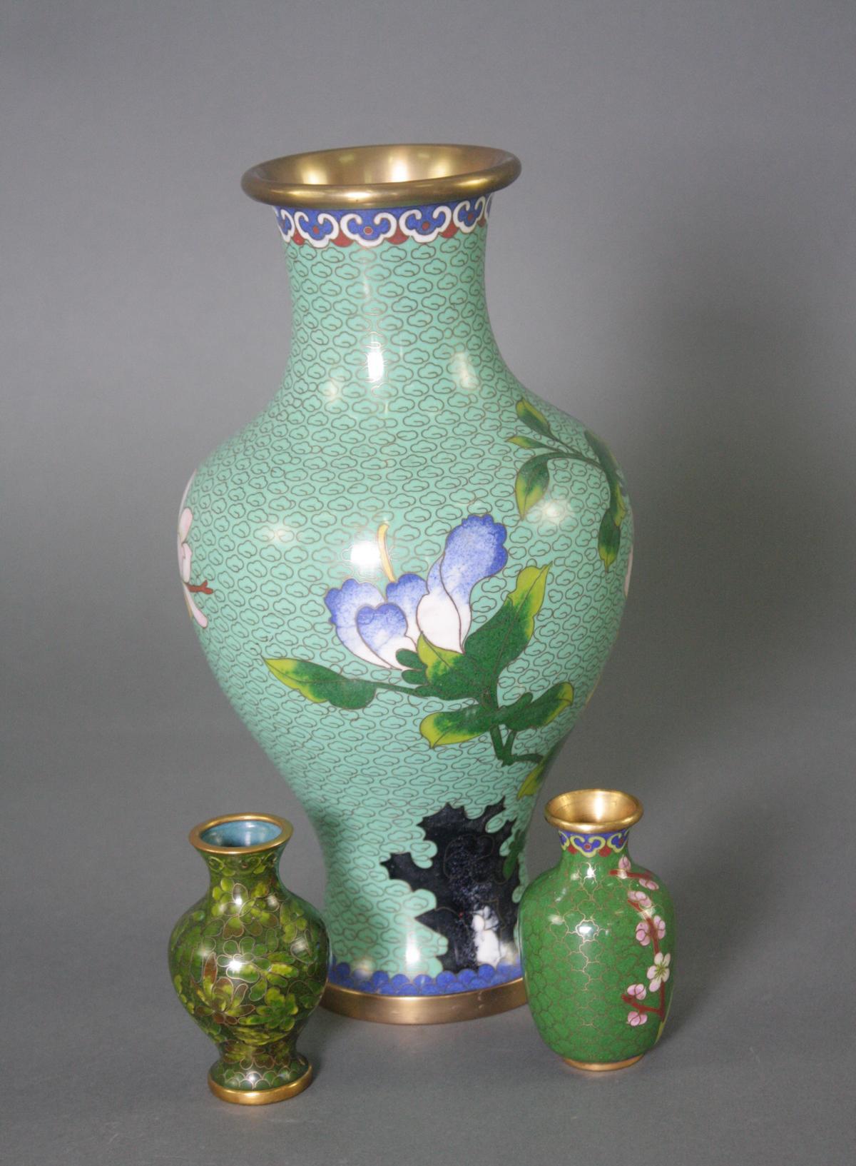 Drei Cloisonné Vasen, China-2