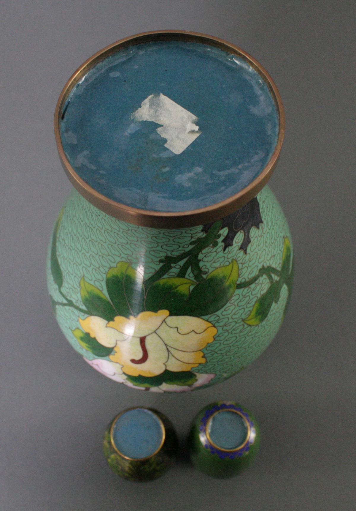 Drei Cloisonné Vasen, China-4