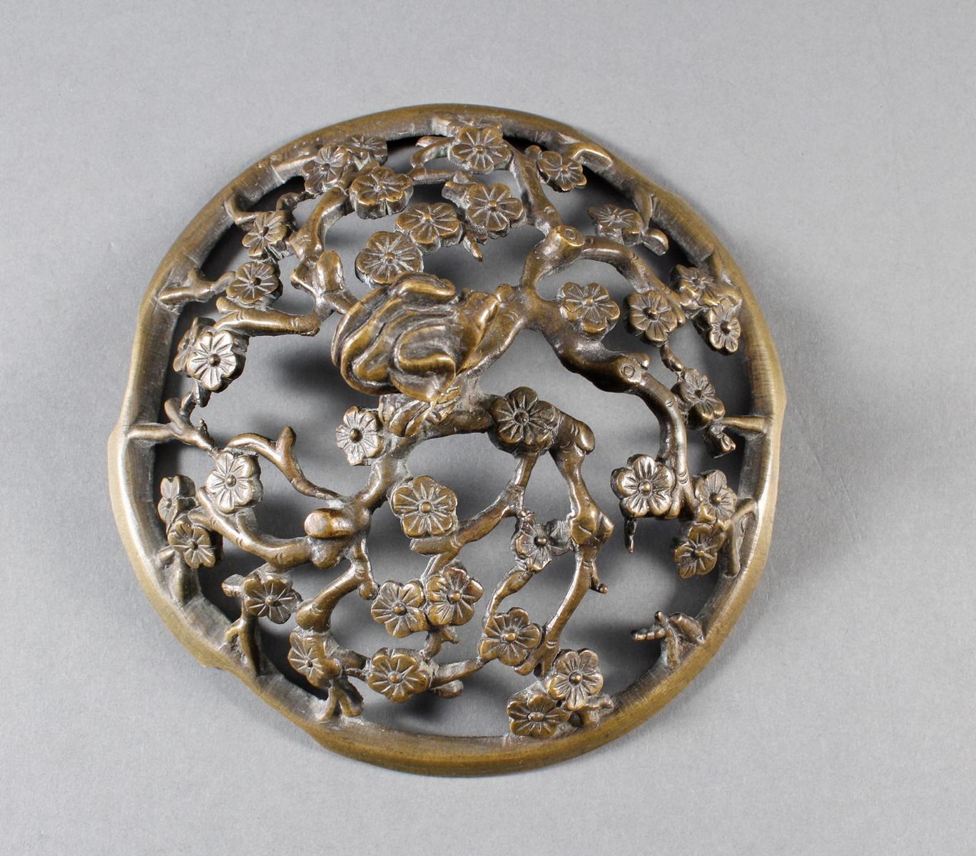 Dreiteiliger Bronze Koro, China 18. / 19. Jahrhundert-8