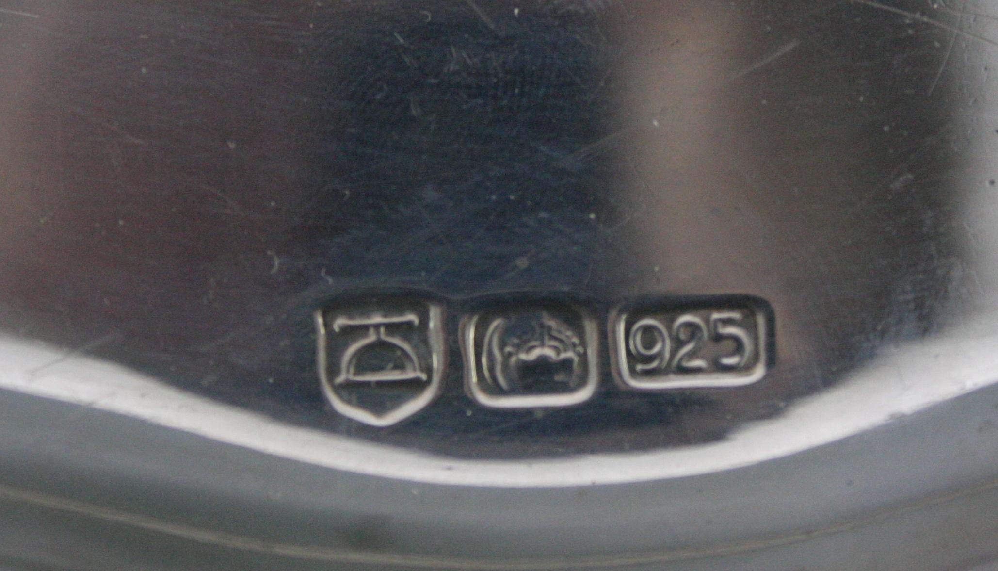 Ovale Silberplatte, 925 Silber-2