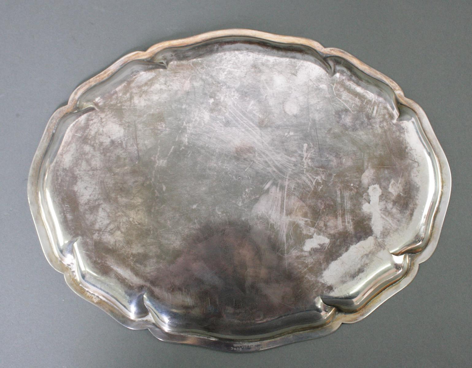 Ovale Silberplatte, 925 Silber-3