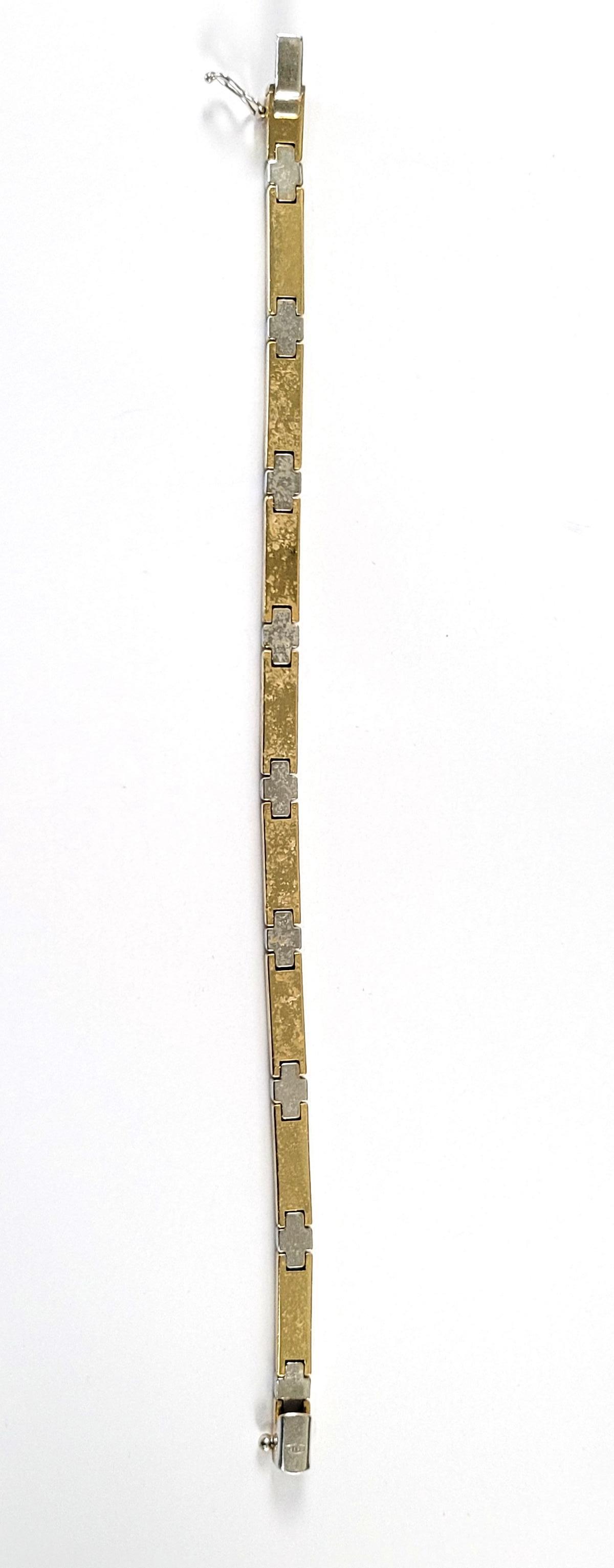 Damenarmband, 14 Karat Gelb- und Weißgold-2