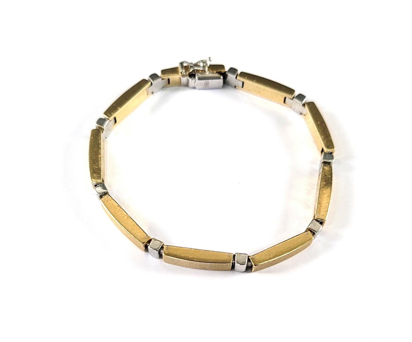 Damenarmband, 14 Karat Gelb- und Weißgold-3