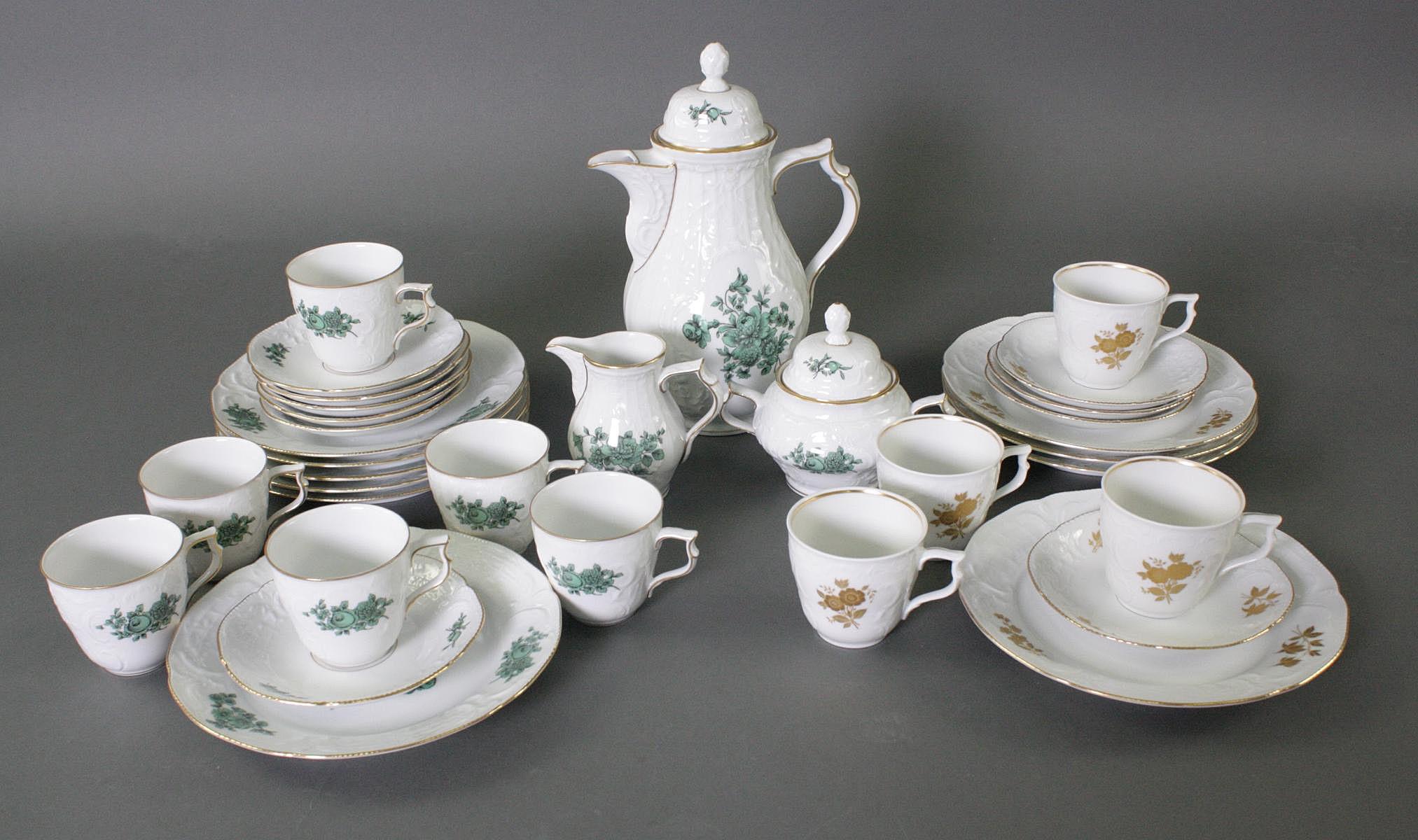 Rosenthal Kaffeeservice, Classic Rose und 4 Gedecke, Sanssouci
