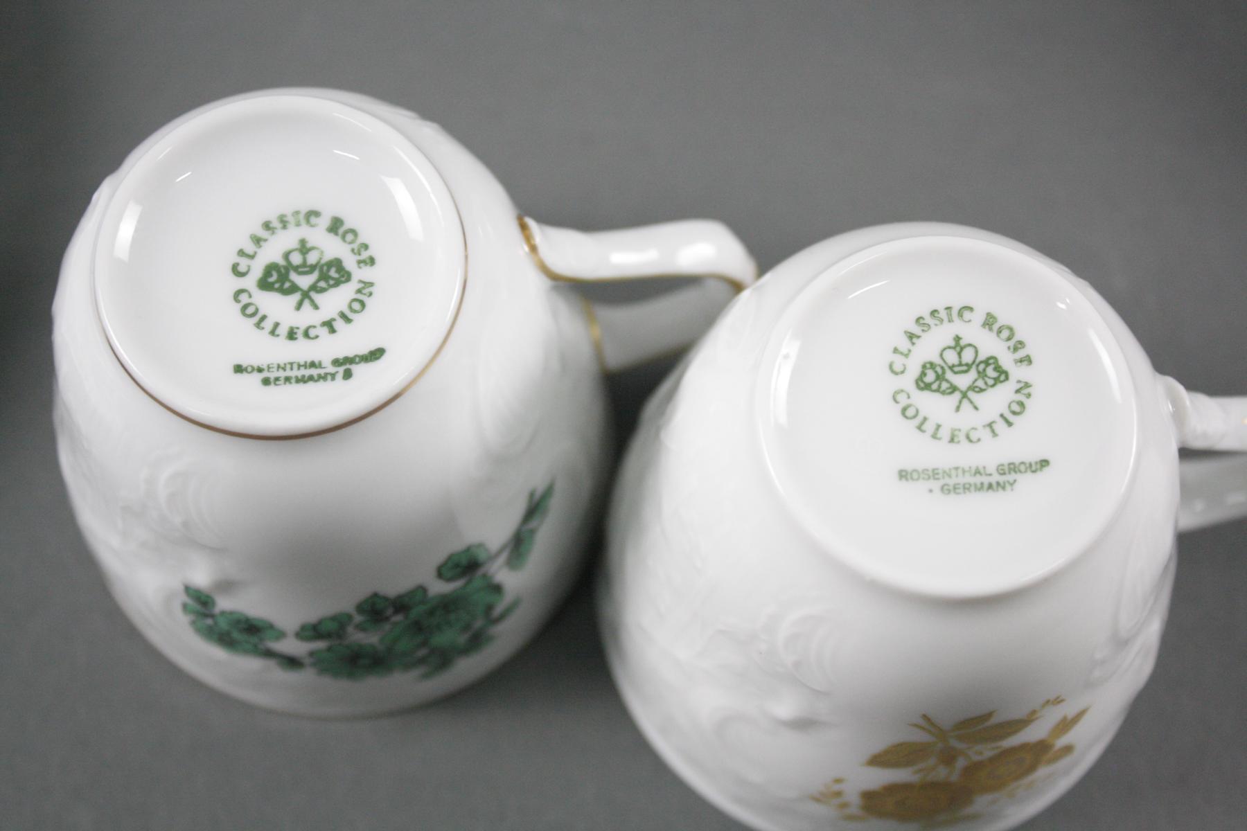 Rosenthal Kaffeeservice, Classic Rose und 4 Gedecke, Sanssouci-2