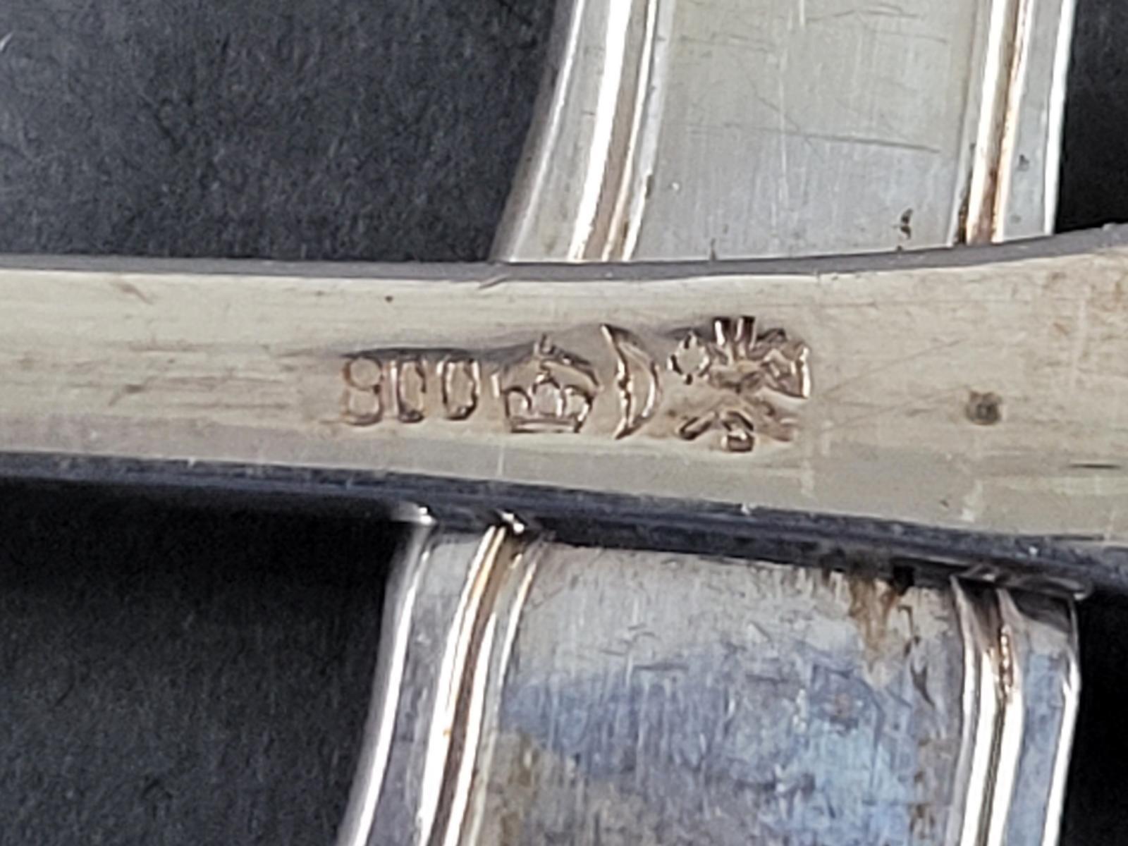 6 Hummergabeln, 800er Silber-3