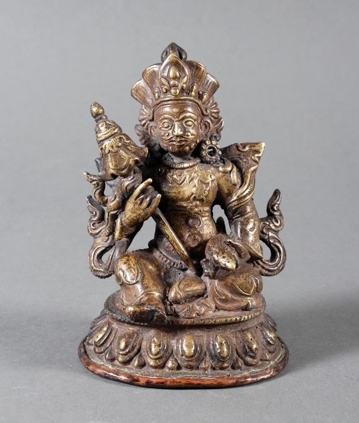 Bronze des Vaishravana, Tibet 17. / 18. Jahrhundert