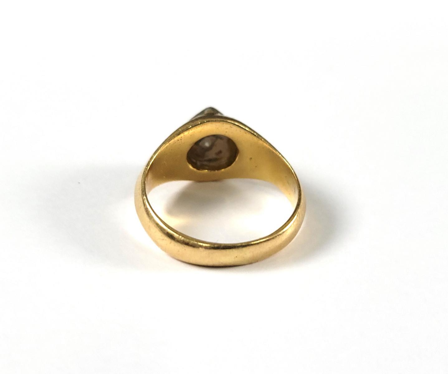 Damenring mit Diamanten, 18 Karat Gelbgold-3