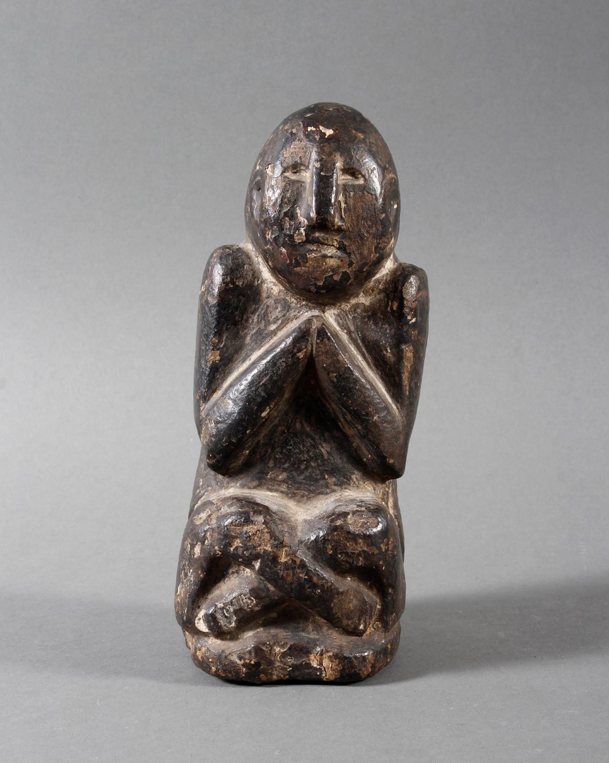 Steinskulptur eines betenden Quell-Geistes, Nepal 19. / 20. Jahrhundert-2