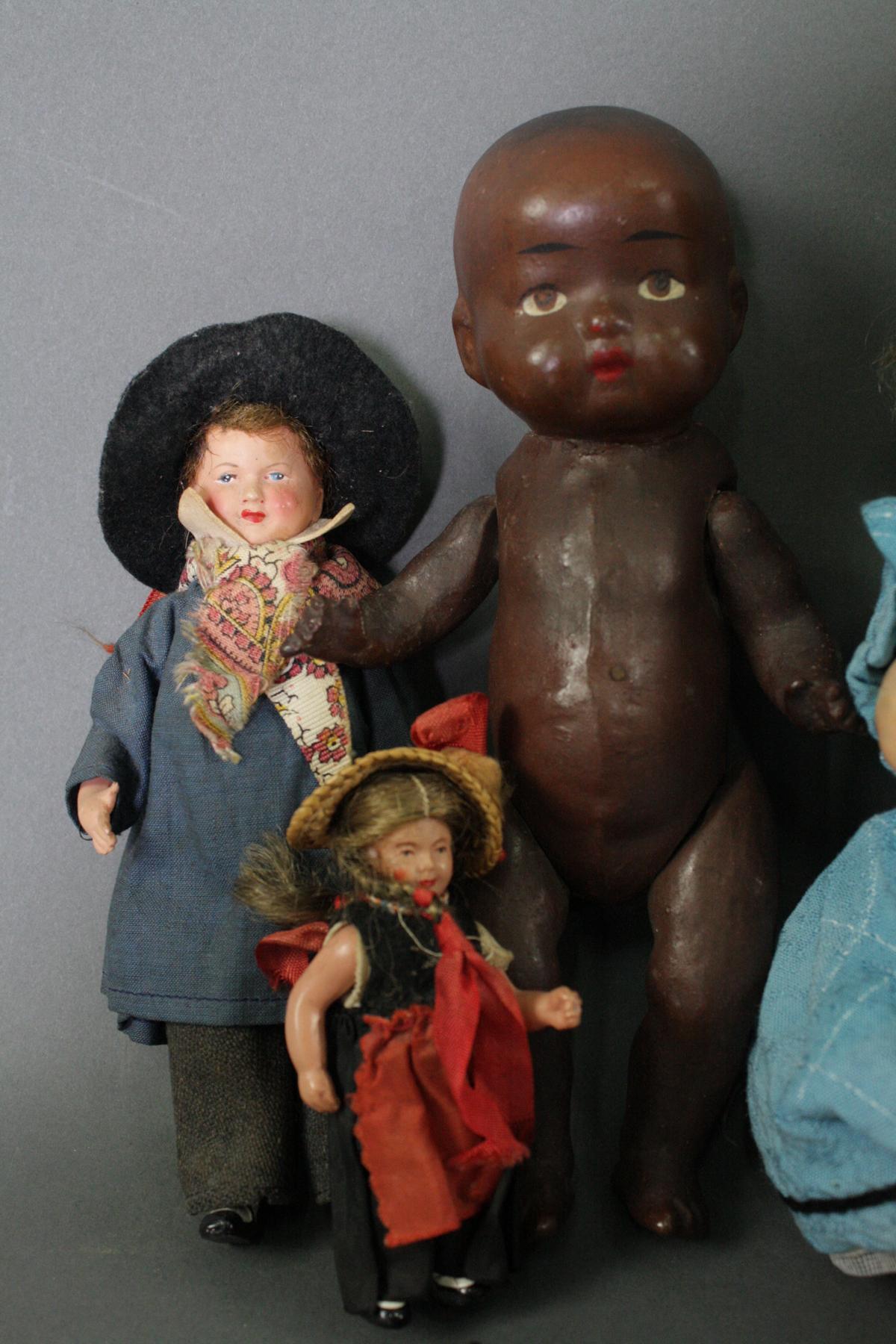12 sehr alte Puppen, 1. Hälfte 20. Jahrhundert oder älter-2
