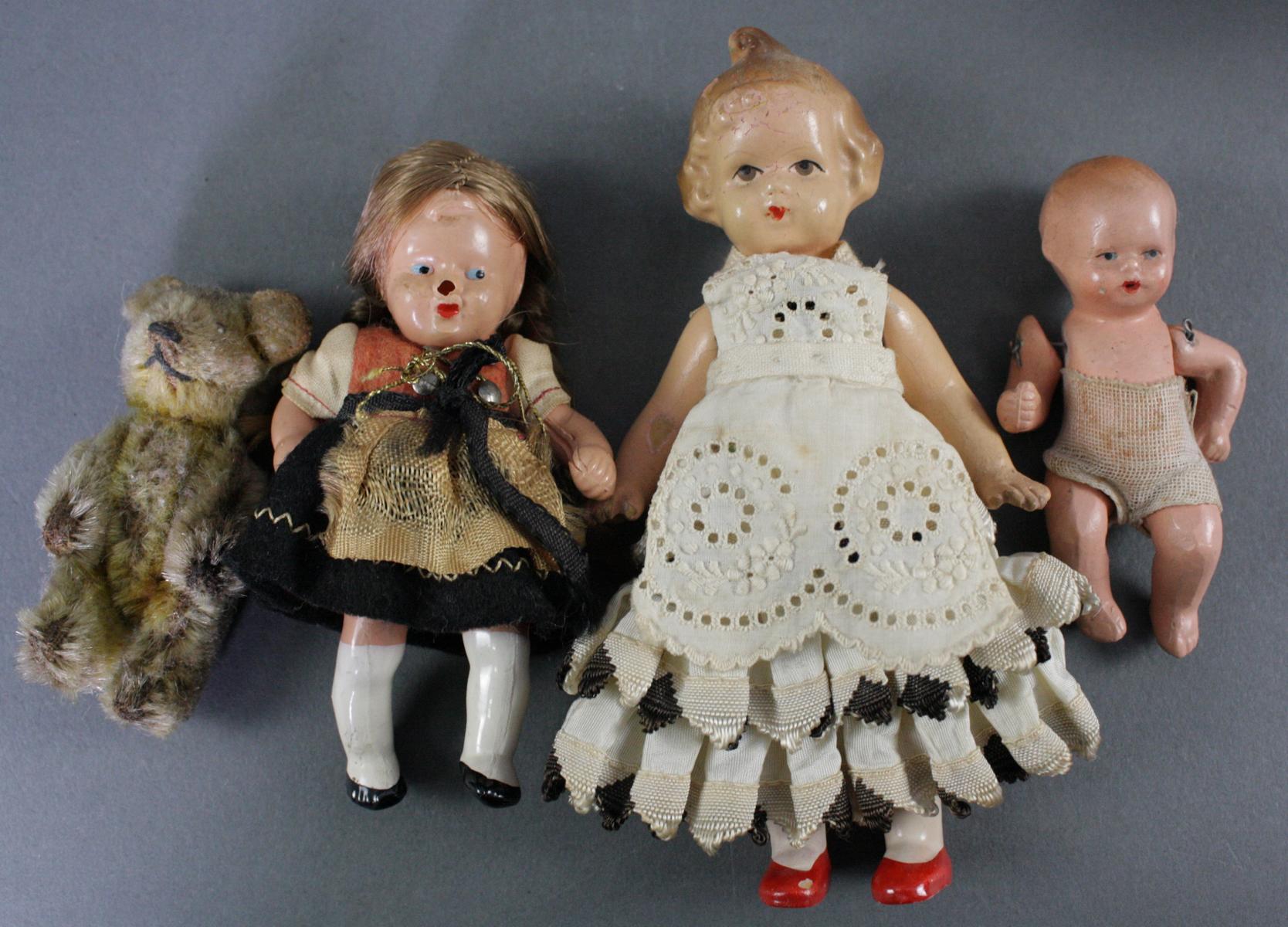 12 sehr alte Puppen, 1. Hälfte 20. Jahrhundert oder älter-6