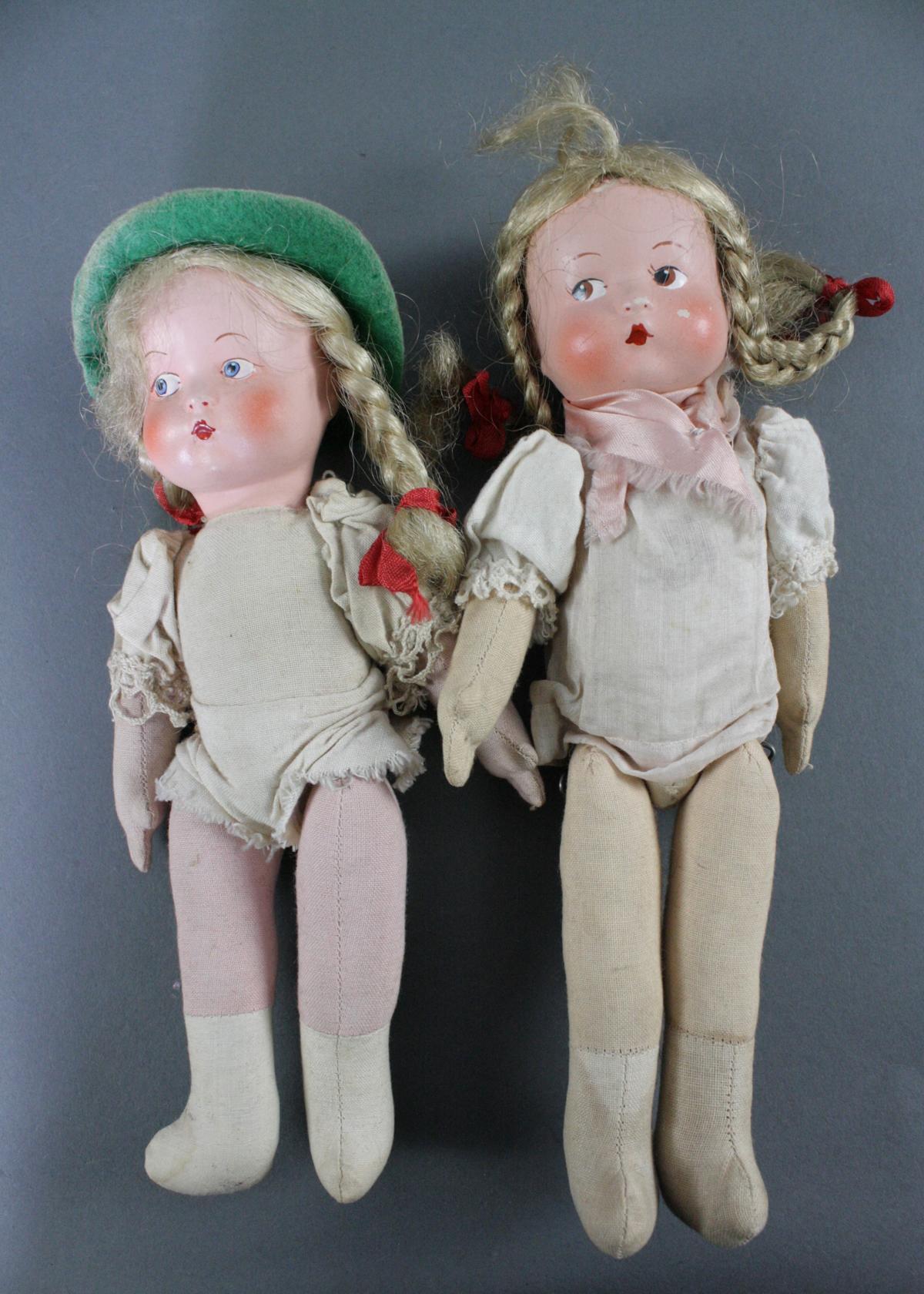 12 sehr alte Puppen, 1. Hälfte 20. Jahrhundert oder älter-8