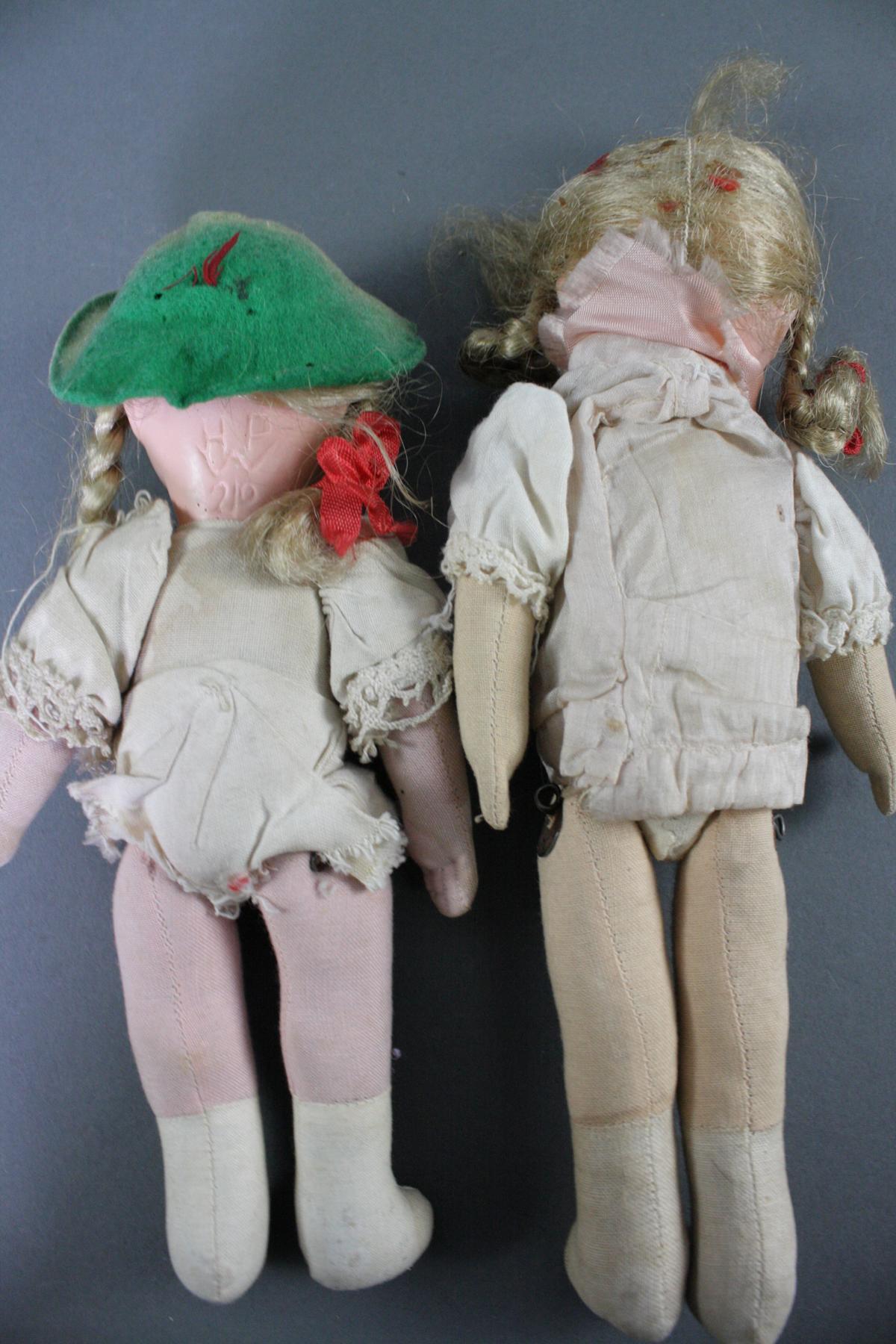 12 sehr alte Puppen, 1. Hälfte 20. Jahrhundert oder älter-9