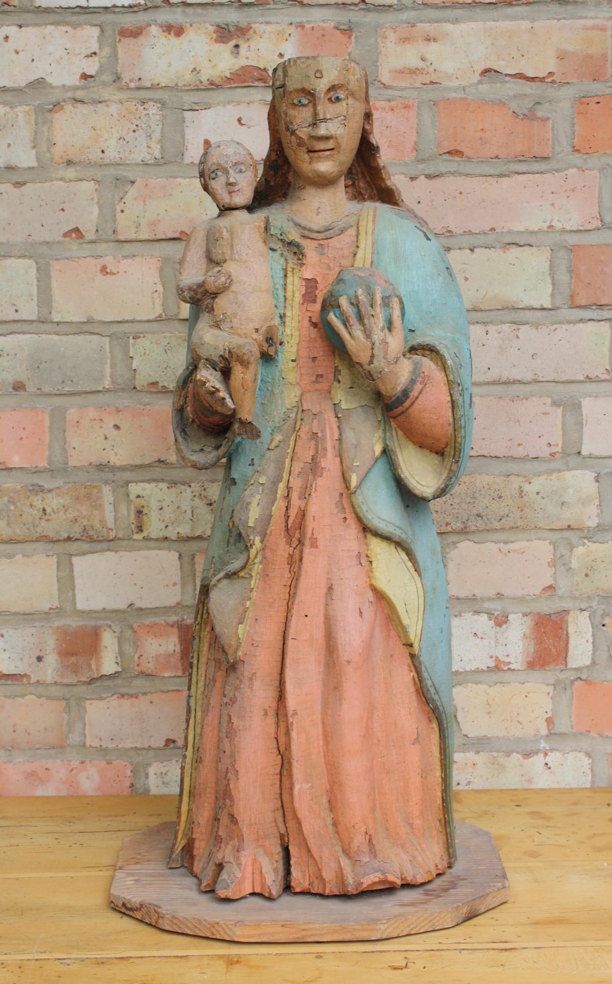Madonna mit Kind und Weltkugel, wohl 15./16. Jahrhundert