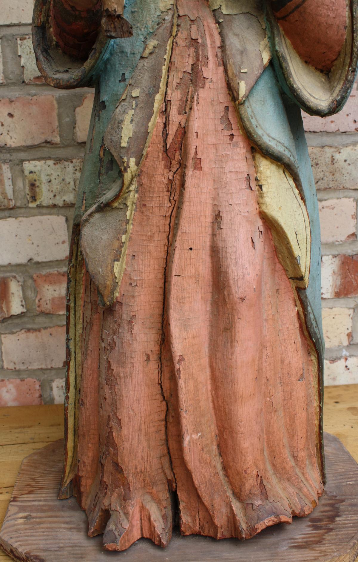 Madonna mit Kind und Weltkugel, wohl 15./16. Jahrhundert-5
