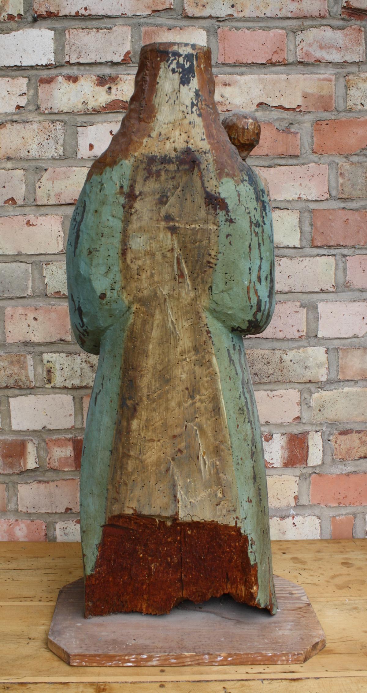 Madonna mit Kind und Weltkugel, wohl 15./16. Jahrhundert-6