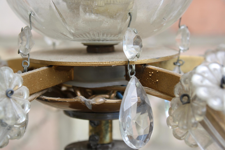 Altarleuchter bzw. Kristall Lampe, 19. Jahrhundert-3