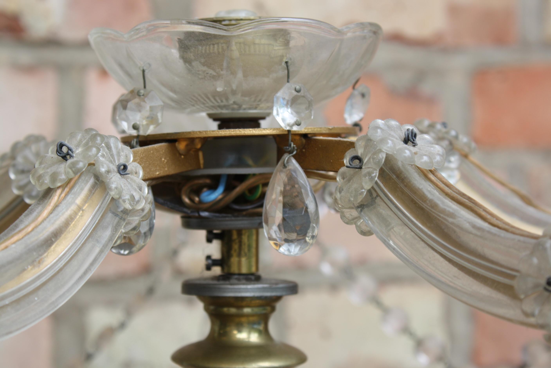 Altarleuchter bzw. Kristall Lampe, 19. Jahrhundert-4