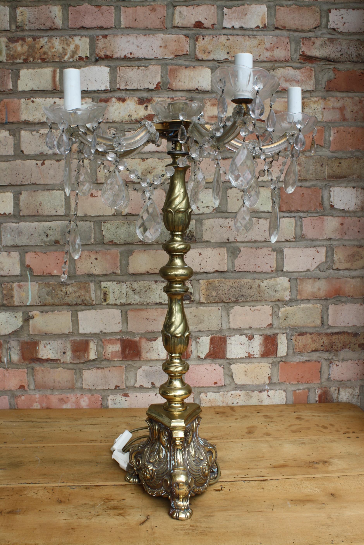 Altarleuchter bzw. Kristall Lampe, 19. Jahrhundert-5