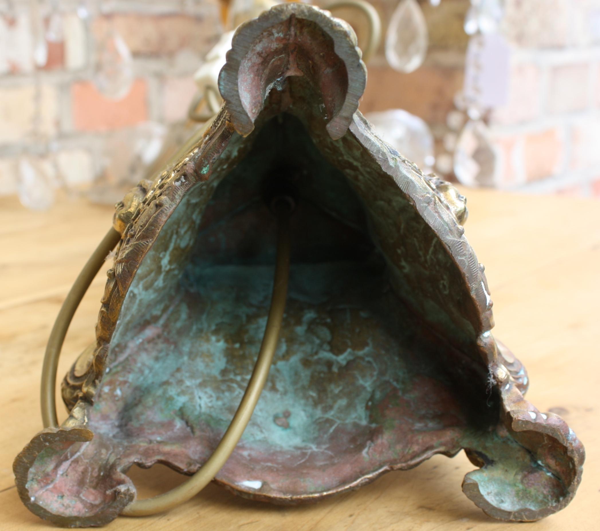 Altarleuchter bzw. Kristall Lampe, 19. Jahrhundert-7