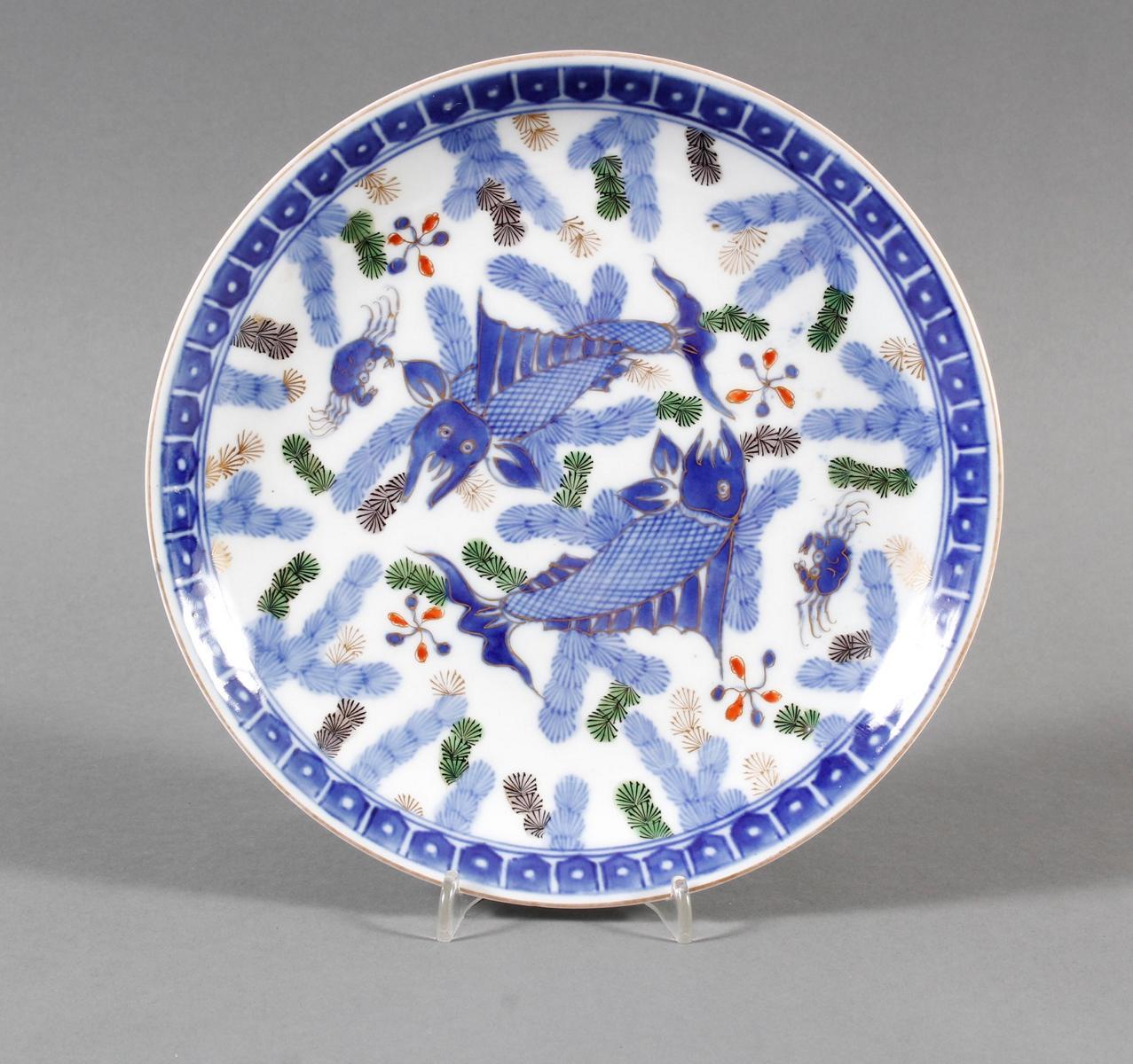 Kutani-Porzellanzierteller, Japan, Meiji- Periode (1868-1912)